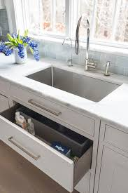 Sponge Drawer Under Kitchen Sink Transitional Kitchen - Kitchen sink drawer