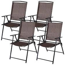 4 outdoor patio folding chairs furniture garden pool beach new