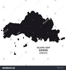 Greece Map Outline by Island Map Keros Greece Stock Vector 537433330 Shutterstock