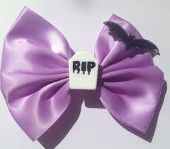 details about creepy cute gothic bat hair bow goth pastel purple