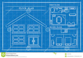 House Blueprint by Blueprint House Plan Architecture Stock Vector Image 43538785