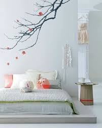 décoration mur chambre à coucher chambre coucher decoration murale peinture style japonaise dans deco