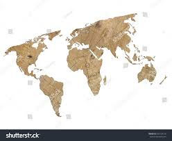 Blank Map Of World by Outline Map World Filled Wood Texture Stock Illustration 425103115