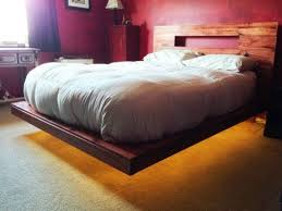 Platform Bed With Lights View In Gallery Sleek Modern Bedroom Design With Lovely Lighting