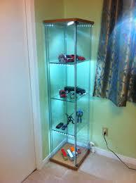 ikea glass display cabinet bedroom ikea detolf with glass display cabinet and green wall for