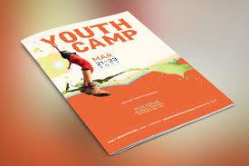youth camp bi fold brochure template on behance