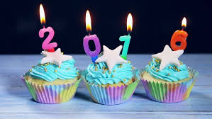 2016 New Year Cake Decorations by Cupcakes And Candles Happy New Year 2016 Stock Footage Video