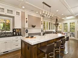 alluring brown wood kitchen islands designs added white marble