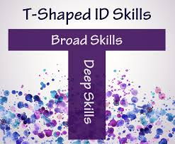 T Shaped by Broad And Deep Instructional Design Skills U2013 Experiencing E Learning