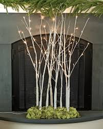 Lighted Twigs Home Decorating Lighted Branches Decorative Pre Lit Winter Birch Branches
