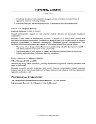 Sample Executive Summary Resume by Resume Example Executive Assistant Careerperfectcom Ideas Of