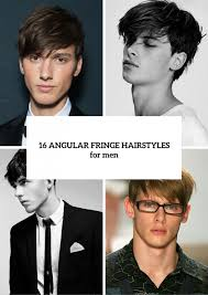hairstyles short on an angle towards face and back 16 angular fringe hairstyle ideas for men styleoholic