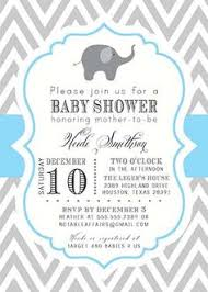 elephant baby shower invitations boy iidaemilia