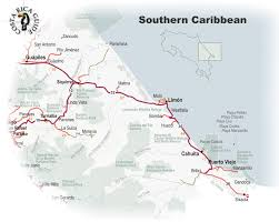 Uva Map Map Of The Southern Caribbean Region Of Costa Rica