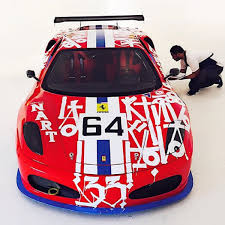 ferrari art retna takes on a ferrari f430 for art basel miami freshness mag