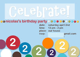 2nd Birthday Invitation Card Mds My Digital Studio Birthday Invitations Creative Cucina