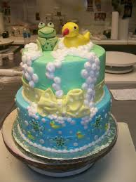 frog baby shower frog and duck cake baby shower cakecentral