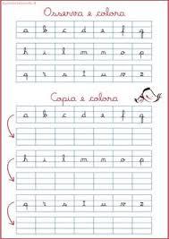 lettere straniere in corsivo maiuscolo e minuscolo corsivo minuscolo schede esercizi genitorialmente scuola