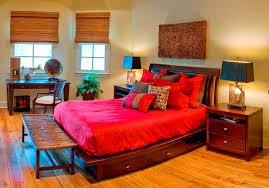bedroom design retro bright bedroom color ideas teak wood bed