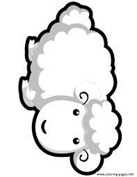 sheep coloring page to print lamb coloring pages