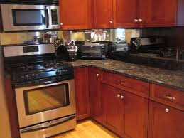 Cherry Wood Kitchen Cabinets Marvelous Cherry Wood Kitchen Cabinetry Painted With Mirror