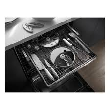 Kitchenaid Dishwasher Utensil Holder Kdfe204esskitchenaid Flush Console Dishwasher With Proscrub