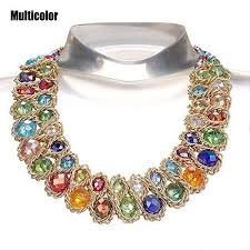 big fashion statement necklace images Awaytr ladies chunky choker necklace gold tone fashion statement jpg