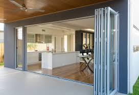 wide aluminium bifold door and louvre window window door