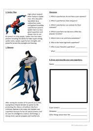 top 10 superheroes worksheet free esl printable worksheets made