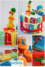 64 pocoyo cakes images birthday cakes