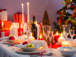 Christmas Table Setting Ideas by Dining Room Christmas Dinner Table Settings Formal Christmas