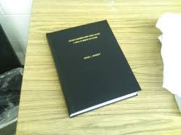 Masters thesis bound and ready for delivery