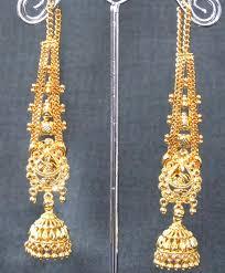 jhumka earrings with chain buy wedding golden jhumka chain earring online