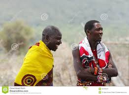masai warriors in traditional dress editorial stock image image