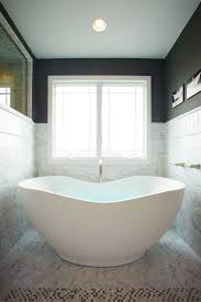 grey marble flooring and wall bathroom tile with stand alone