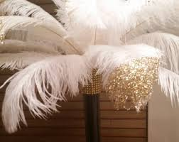 Centerpiece With Feathers by Ostrich Feather Centerpiece With 16 Eiffel Tower Vase
