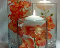 Vases With Floating Candles Floating Candle Vase White Orchid Vase 12 Inch Square