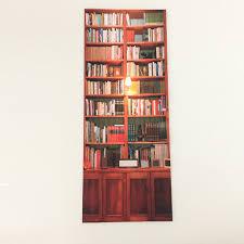 strange home decor 3d bookcase wall door stickers diy home decor refurbished sticker