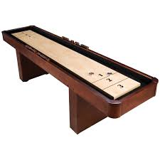 level best 9 ft mahogany shuffleboard table hayneedle