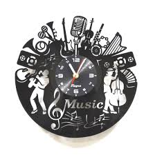 music vinyl record clock jazz art music laser cut clock vinyl