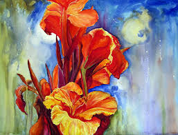 canna lilies canna lilies painting by priti lathia