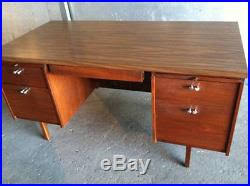 Mid Century Modern Office Desk Mid Century Modern Vintage Retro Leopold Office Desk And Credenza