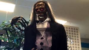 gemmy life size skeleton butler at home halloween 2015 youtube