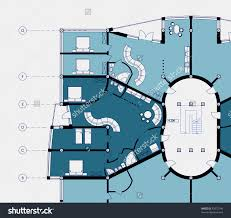 abstract architectural background plan of apartment vector drawing