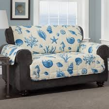 Sofa Protector Seashells Coastal Quilted Furniture Protectors