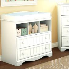 wooden baby changing unit pure white country style changing table