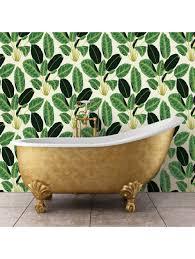 bloom jungle removable wallpaper emerald