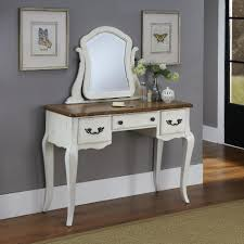Overstock Laminate Flooring Furniture White Wooden Girls Vanity Set With Swivel Mirror And
