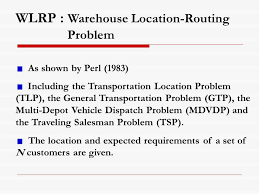 Maryland travelling salesman images A warehouse location routing problem jirawan niemsakul jossef jpg
