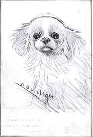 this sketch of a dog really makes me curious of how the artist